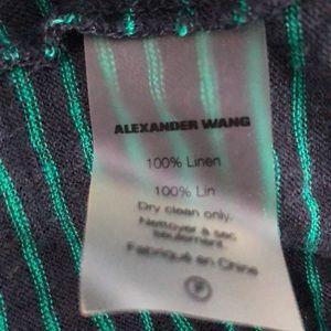Alexander Wang Tops - alexanderwang.t Green/Navy Linen Stripe Tank XS/P